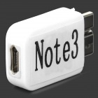 Micro USB Female to Micro USB 3.0 9-Pin Male Adapter for Samsung Galaxy Note 3 N9000 - White