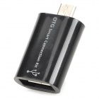 Micro USB Male to USB Female OTG Adapter for Samsung Cellphones + More - Black