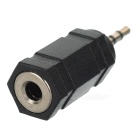 2.5mm Male to 3.5mm Female Adapter Convertor - Black