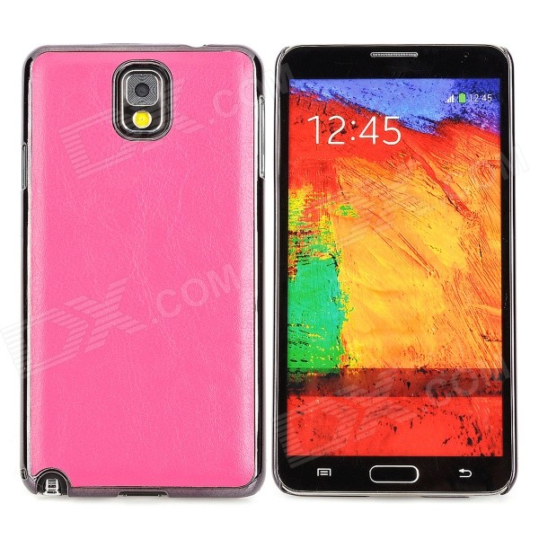 Protective PU + ABS Back Case for Samsung Galaxy Note 3 N9000 / N9005 / N9002 - Deep Pink cute 3d girl style protective silicone back case for samsung galaxy note 3 n9000 green