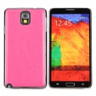 Protective PU + ABS Back Case for Samsung Galaxy Note 3 N9000 / N9005 / N9002 - Deep Pink