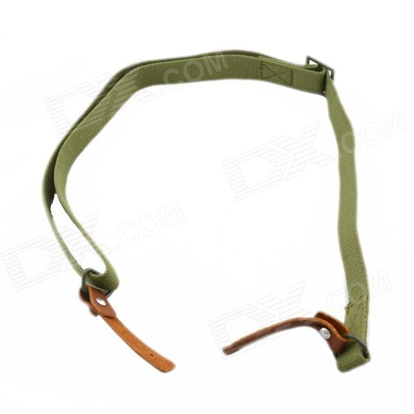 Adjustable Nylon Sling for AK Rifle - Green + Brown