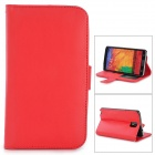 Protective PU Leather Case for Samsung Galaxy Note 3 - Red