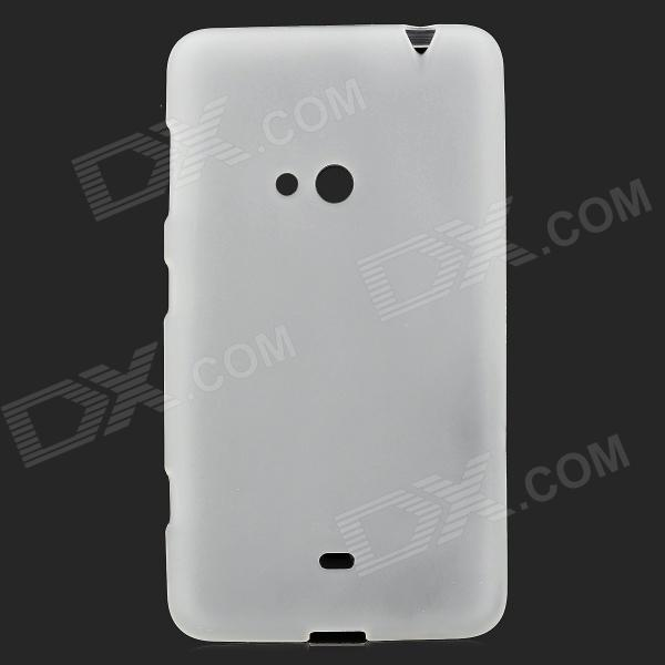 Protective TPU Back Case for Nokia Lumia 625 - Translucent White s style protective soft tpu back case for nokia lumia 928 translucent grey
