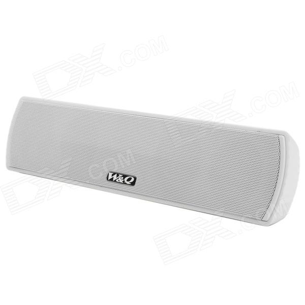 W&Q V30 Rechargeable Bluetooth v2.1 + EDR 2-CH Speaker w/ TF - White portable rechargeable wireless bluetooth v2 0 speaker w tf slot for iphone ipad cell phone mp3 mp4