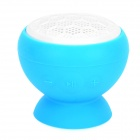 V12 Suction Cup Mount Mini Bluetooth V3.0+EDR Speaker - Blue + White