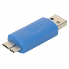 USB 3.0 Male to Micro 9-Pin Male Adapter for Samsung Galaxy Note 3 - Blue