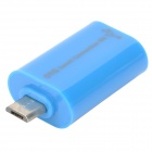 Micro USB Male to USB Female OTG Adapter - Blue