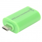 Micro USB Male to USB Female Adapter - Green