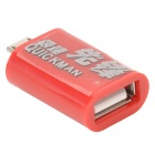 Micro USB Male to USB Female OTG Adapter - Red