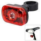 XL-31T 3-LED Red Light 2-Mode Bike Safety Tail Lamp w/ Holder - Red + Black (2 x AAA)