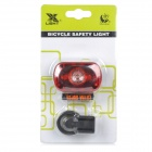XL-31T cauda 3-LED Red Light 2-Mode bicicleta Safety Lamp w / suporte - vermelho + preto (2 x AAA)