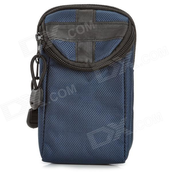 013 Convenient Multifunctional Durable Nylon Waist Bag - Navy Blue