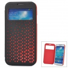 Joyroom Stylish PU Leather + PC Smart Case for Samsung Galaxy S4 / i9500 - Black + Red