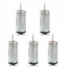 Cylindrical DC 3V High Speed Mini DC Motor -Silver (5 PCS)