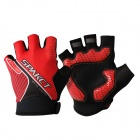 Spakct Cycling Lycra Short-finger Gloves - Red + Black (Pair / L)
