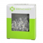 SENCART F5 IF-20mA 2160MCD White Light LED Light Emitting Diodes - Transparent + Yellow (100 PCS)