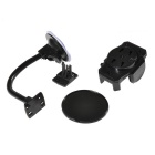 360 Degree Rotatable Air-Outlet Car Mount Holder w/ Suction Cup for Cellphone - Black