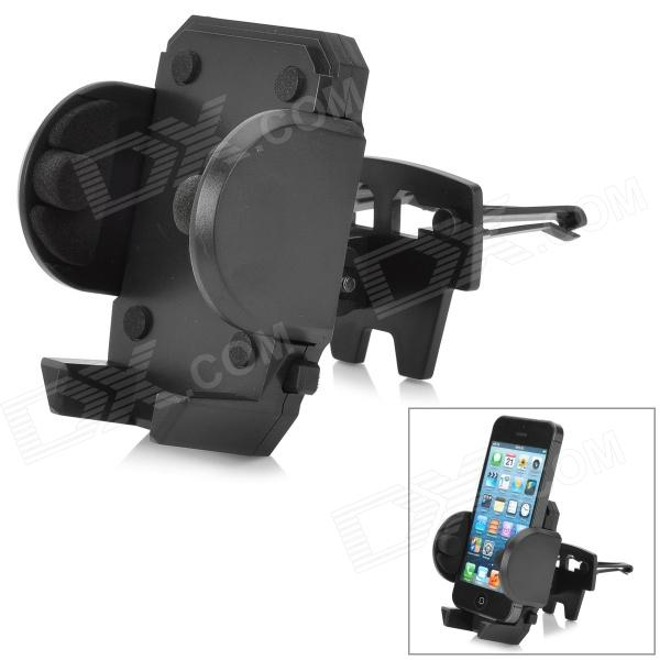 180 Degree Rotational Car Vent Mount Holder for Iphone / GPS - Black 360 degree rotatable car air condition vent stand holder for iphone 5 gps more white