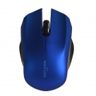 HUIJIAN 501 2.4GHz Wireless Optical Mouse w/ USB Receiver - Blue + Black (1 x AAA)
