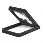 ZW 7008 Folding Double Lenses 3X / 7X Magnifier w/ LED Light - Black + Transparent (3 x LR927)