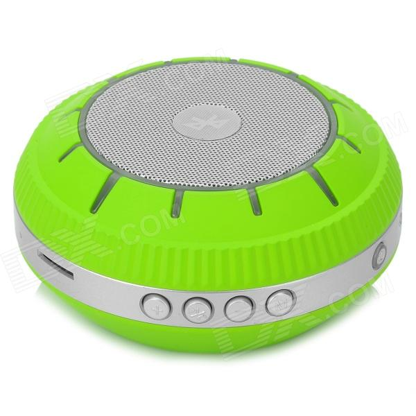 E305 Portable Stereo Bluetooth V3.0 + EDR Speaker w/ TF / MP3 / AUX - Silver Grey + Green t050 3w mini portable retractable stereo speaker w tf black golden 16gb max