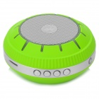 Portable Stereo Bluetooth V3.0 + EDR Speaker w/ TF / MP3 / AUX - Silver Grey + Green