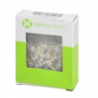 SENCART F5 3.0.~3.2V2000mcd 3500K Warm White In-Line LEDs - Transparent + Yellow (100 PCS)
