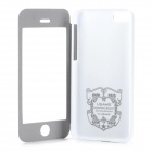 USAMS IP5CCD02 Flip-Open PU + PC Case w/ Stand for Iphone 5C - White