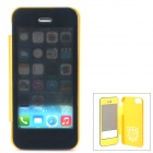 Protective PU Leather + PC Case for Iphone 5 / 5s - Golden
