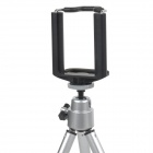 Mini Adjustable Retractable TrIpod Stand Holder for Iphone / Samsung + More - Silver + Black