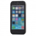 phoenixfeiya Protective Flip Open PU Case w/ Stand for Iphone 5S - Black