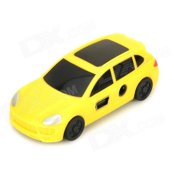 Portable Mini Car Style MP3 Player w/ Mini USB / TF Card Slot - Yellow + Black