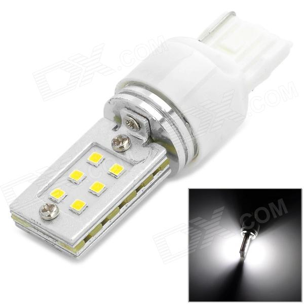 QCD-13 T20 6W 300lm 6500K 12-SMD 3528 LED White Car Steering / Brake Light (12~24V)