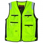SCOYCO Outdoor Motorcycle Reflective Warning Vest - Fluorescent Green (Size L)