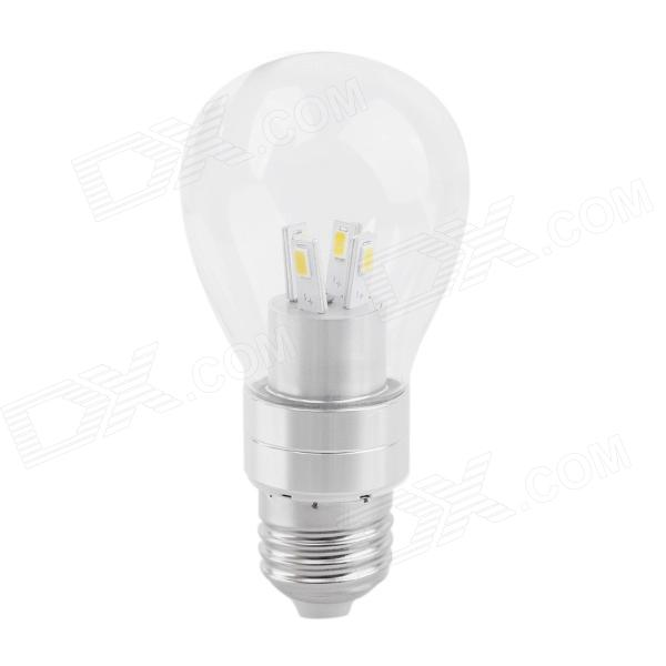 PDQ-20 E27 4W 320LM 3000K 8-SMD 5630 Warm White LED Bulb Lamp - Transparent + Silver (85-265V) smart bulb e27 7w led bulb energy saving lamp color changeable smart bulb led lighting for iphone android home bedroom lighitng