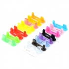 Stylish 2-in-1 Dust-proof TPU Earphone Jack + Power Port Plug for Iphone 5 / 5c / 5s (18PCS)