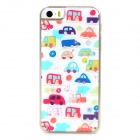 Cartoon Car Style Protective Epoxy Back Case for Iphone 5 / 5s - White + Red