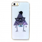 Cartoon Style Protective Epoxy Back Case for Iphone 5 / 5s - Grey White