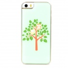 Two Owls in the Tree Style Protective Epoxy Back Case for Iphone 5 / 5s - Green