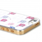 Cute Owl Pattern Protective Epoxy Back Case for Iphone 5 / 5s - White