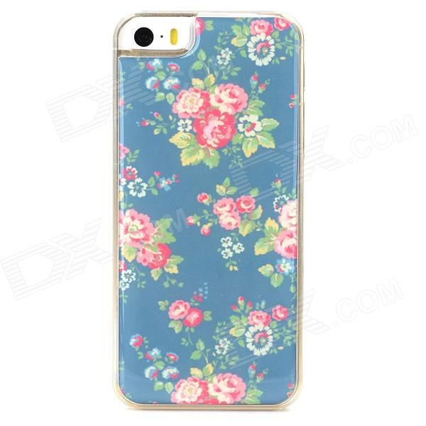 Beautiful Rose Style Protective Epoxy Back Case for Iphone 5 / 5s - Green + Red + Pink ipega i5056 waterproof protective case for iphone 5 5s 5c pink