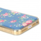 Beautiful Rose Style Protective Epoxy Back Case for Iphone 5 / 5s - Green + Red + Pink