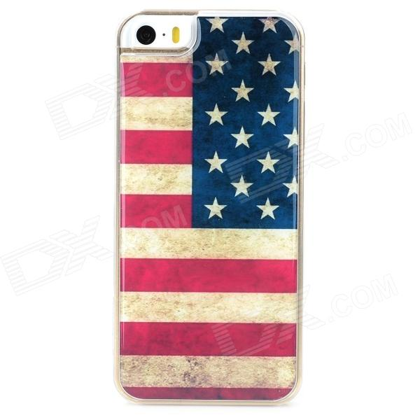 US National Flag Style Protective Epoxy Back Case for Iphone 5 / 5s - Red + Blue chris van gorder the front line leader