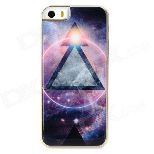 Cool Triangle Pattern Protective Epoxy Back Case for Iphone 5 / 5s - Multicolor