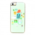 Cute Owls Style Protective Epoxy Back Case for Iphone 5 / 5s - Light Green
