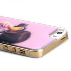 Girl with Camera Style Protective Epoxy Back Case for Iphone 5 / 5s - Pink