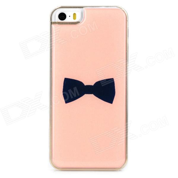 Stylish Bow Tie Style Protective Epoxy Back Case for Iphone 5 / 5s - Pink ipega i5056 waterproof protective case for iphone 5 5s 5c pink