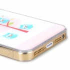 Cute Six Owls Style Protective Epoxy Back Case for Iphone 5 / 5s - Light Pink + White