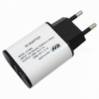 5V 3.1A Dual USB AC Power Charger for IPHONE 6 / 6S / Samsung / Xiaomi / HTC + More - (EU / White)